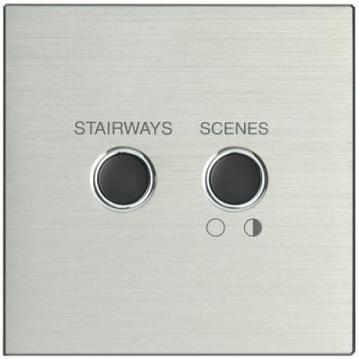 Systemteq Switchplate 2B Silver Black