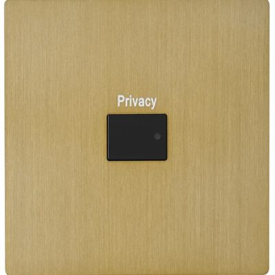 Systemteq Switchplate Gold 1B Rect Black