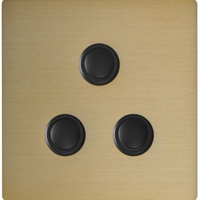 Systemteq Switchplate Gold 3B Round Black
