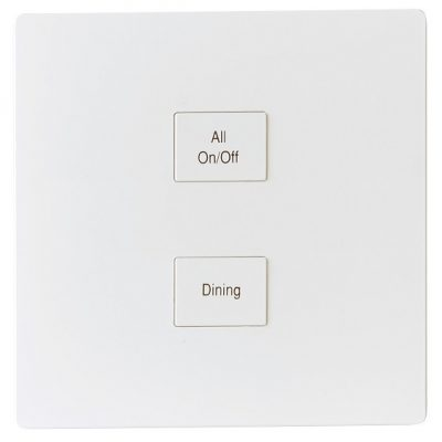 Systemteq Switchplate White Plastic 2B